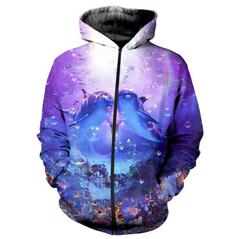 3D hoodies, Fashion, Zip, Print
