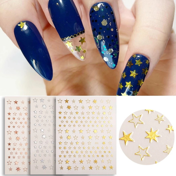 Star, nail stickers, art, transfersticker