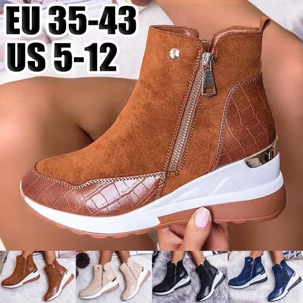 Sneakers, Plus Size, Waterproof, leatherbootswomen