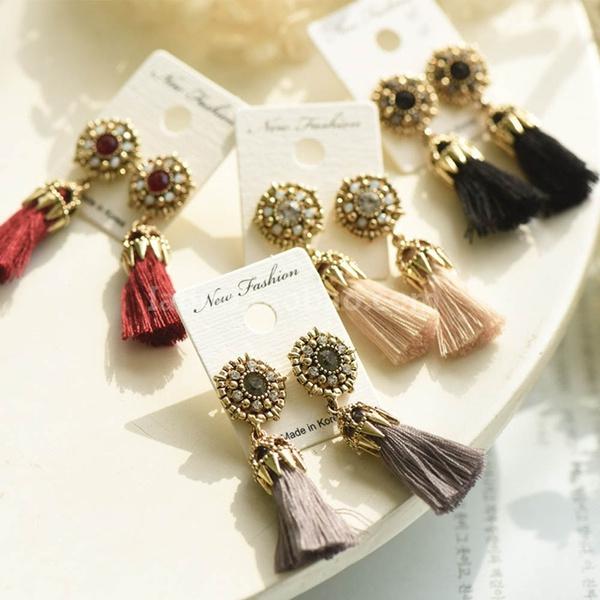 Valentines Gifts, Tassels, Fashion, Dangle Earring