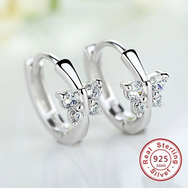 butterfly, cute, Fashion, Stud Earring