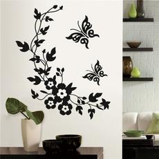 butterfly, toiletdecoration, Bathroom, Flowers