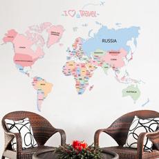 Beautiful, Map, Decor, room