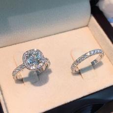 Sterling, DIAMOND, 925 silver rings, Romantic