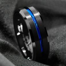Blues, ringsformen, tungstenring, wedding ring