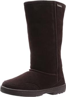 brown, Suede, fur, Shoes