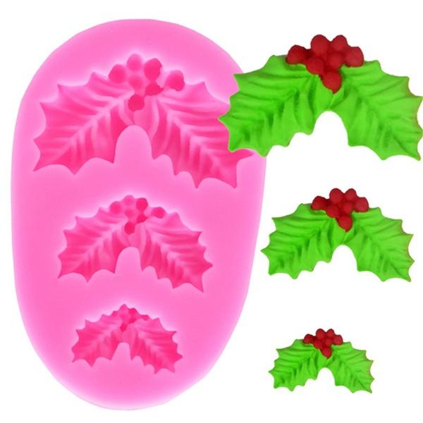 leaves, theform, Christmas, Cake