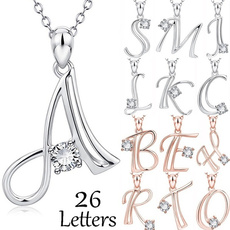 Sterling, DIAMOND, gold, necklace for women