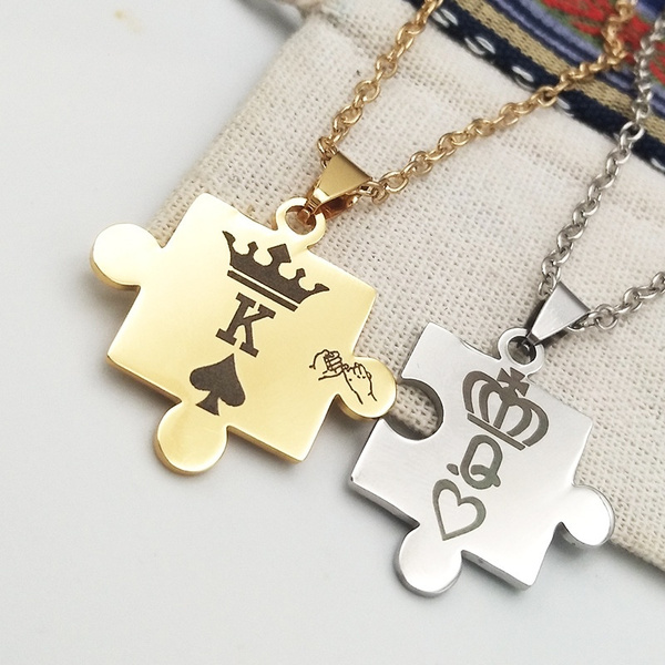 King, kingandqueennecklace, Jewelry, Couple
