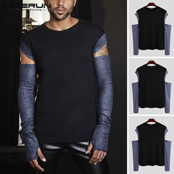Round neck, slim, Shirt, Sleeve