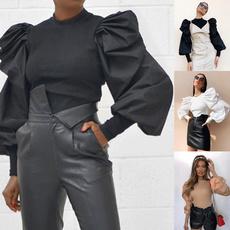 blouse, Slim Fit, Necks, Sleeve