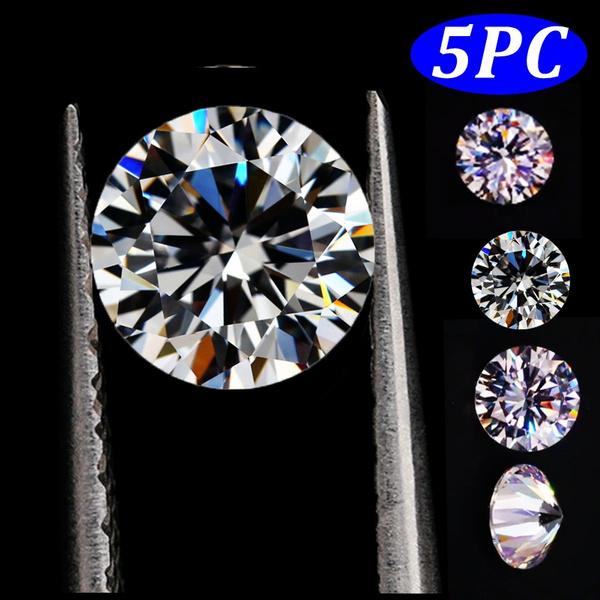 moissanite, loosegem, naturalwhitesapphireround, natural diamond