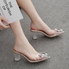 Sandals, pointedsandal, Womens Shoes, blockheelsandal