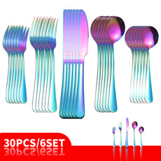 Forks, Steel, rainbow, Stainless