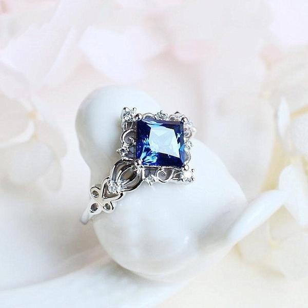 Sterling, DIAMOND, wedding ring, Vintage
