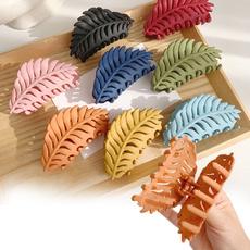 koreanhairclaw, leaf, Hair Clip, leafhairclawclip