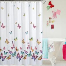 Shower, Bathroom Accessories, Butterflies, mildewshowercurtain