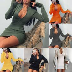 Fashion, slimpackagehipdres, sexy dresses, Sleeve