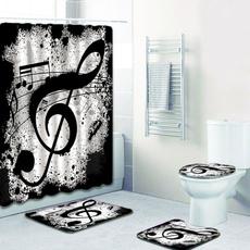 Home Decor, Waterproof, toiletlidcover, nonsliprug