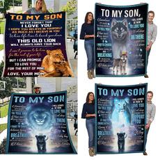 Blankets & Throws, Love, tomysonletterprinted, blanketgift