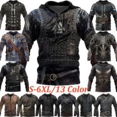 3D hoodies, knightstylecloth, hooded, Cosplay