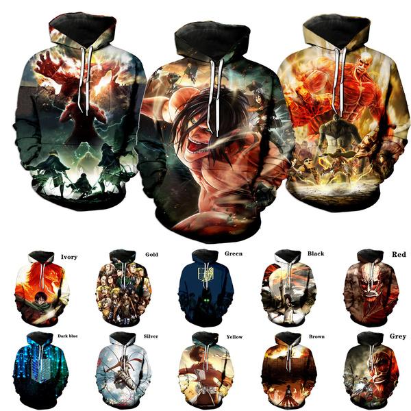 3D hoodies, Fashion, attackontitanhoodie, Tops