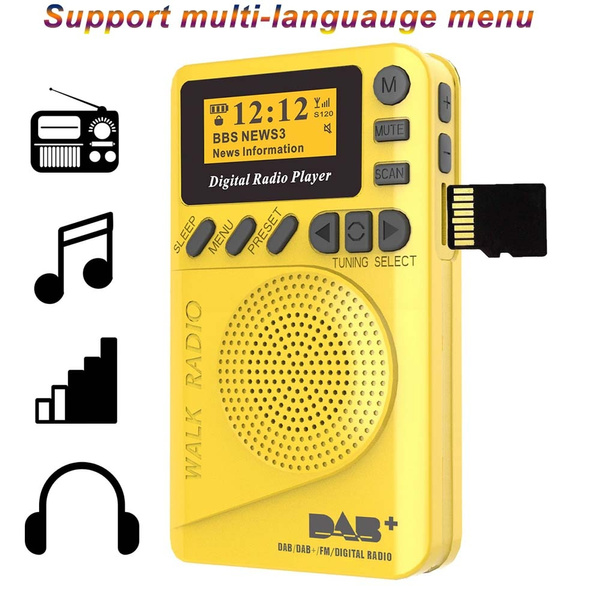 Mini, led, gadget, digitalradio