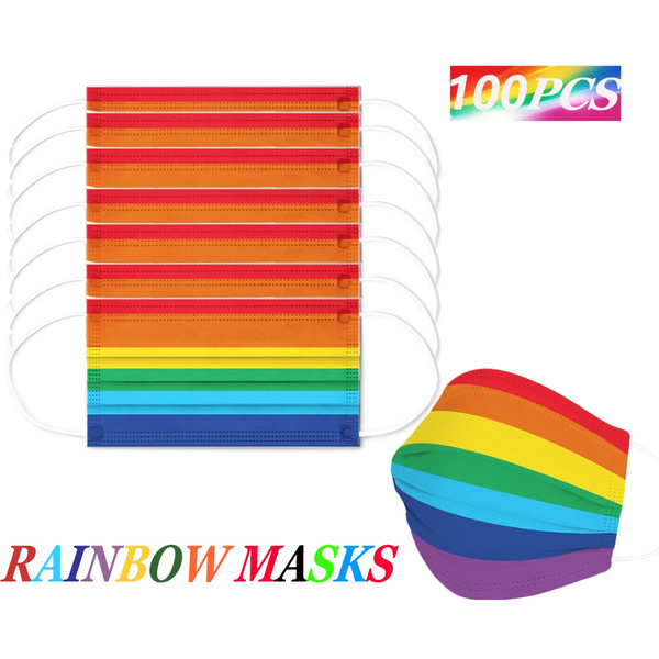 rainbow, mouthmask, virusmask, Face Mask