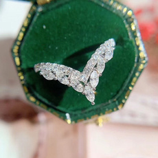Sterling, DIAMOND, Princess, Women Ring