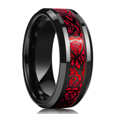 Plus Size, dragonring, Stainless Steel, Celtic