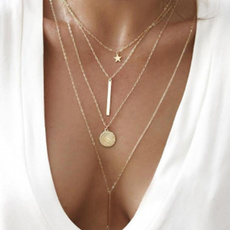 geometrynecklace, Chain Necklace, starnecklace, Star