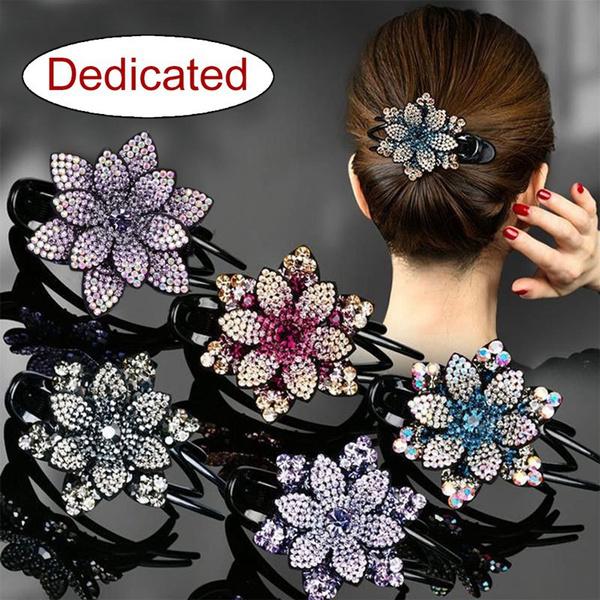 hair, Flowers, headdress, flowerduckbillclip