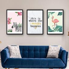 art print, Decor, flamingo, childrensroomdecoration