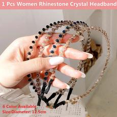 non-slip, fashion women, hairhoopaccessorie, rhinestoneshairband