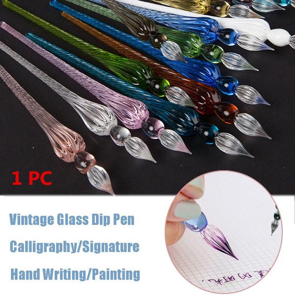 art, dippingpen, paintingpen, Glass