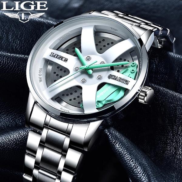 Steel, quartz, gentswatch, Waterproof Watch