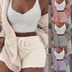 women's pajamas, Coat, velvet, Winter