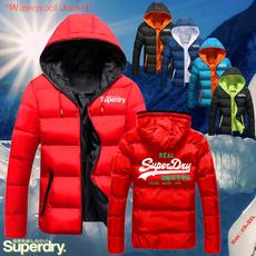Fashion, hooded coat, zipperjacket, superdry