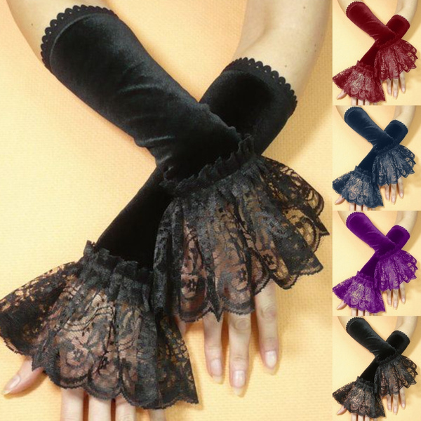 fingerlessglove, Goth, longglove, burlesque