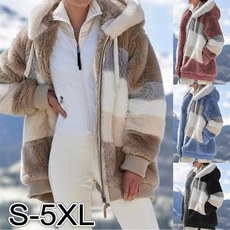 Plus Size, keepwarmcoat, fluffy, Winter Coat Women