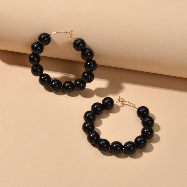 beadscircleearring, circleroundhoopearring, largehoopearring, Jewelry