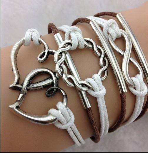 Charm Bracelet, Heart, Fashion, Infinity