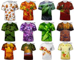 maple, leaf, Tops, short sleeves