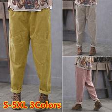 Women Pants, Plus Size, elastic waist, Waist