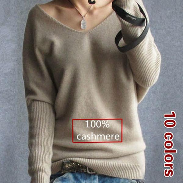 Plus Size, Spring, V-neck, knitted