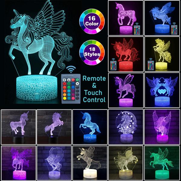 ledtablelamp, led, unicornserie, 3dlednightlight
