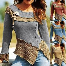 knitted, Fashion, blousesforwomen, Necks