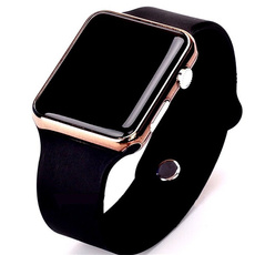 led, Army, Silicone, wristwatch