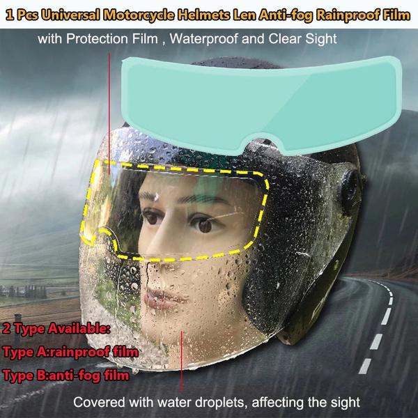 Helmet, helmetlensantifogfilm, Clear, rainprotective