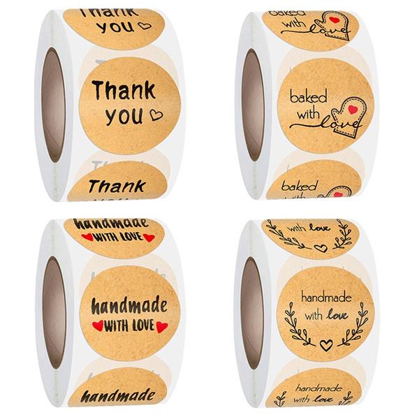 naturalkraftpaper, Love, handmadewithlovesticker, Stickers
